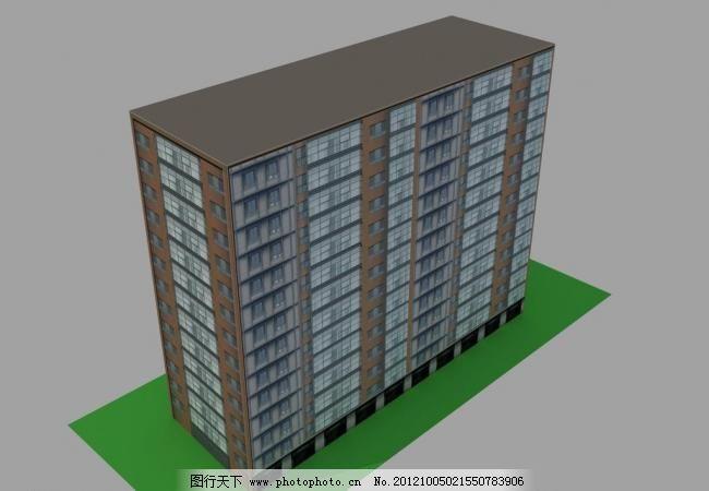 楼房图片免费下载 3d设计模型 max 材质 建筑模型 楼房 室外建筑 室外