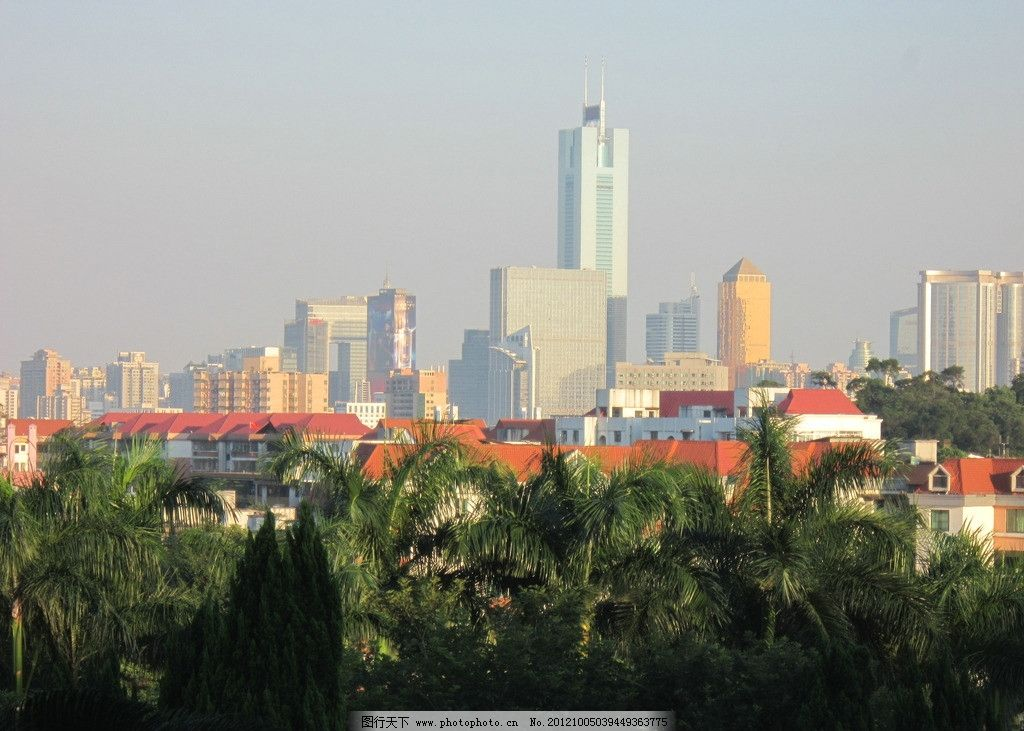 城市建筑 广州远景 高楼大厦 建筑摄影 建筑园林