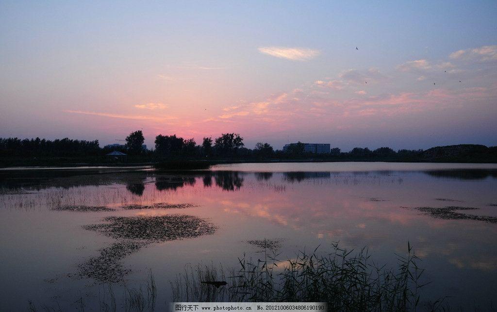 夕阳 朝霞 湖水 河水 晚霞 风景 蓝天 云朵 风景摄影 自然风景 自然