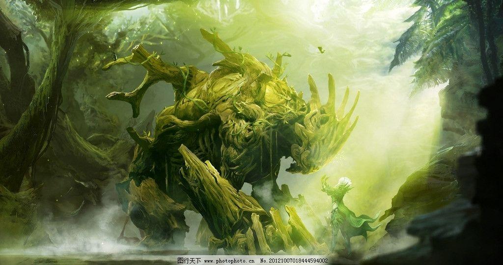 森林巨人 巨人 森林 树图片