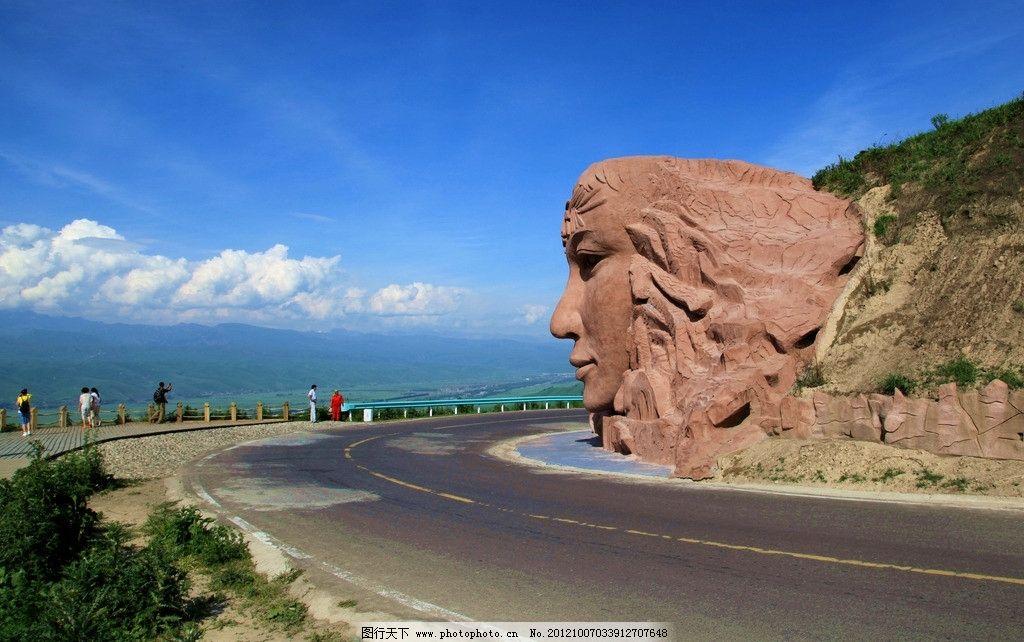 新疆美女形状雕塑图片