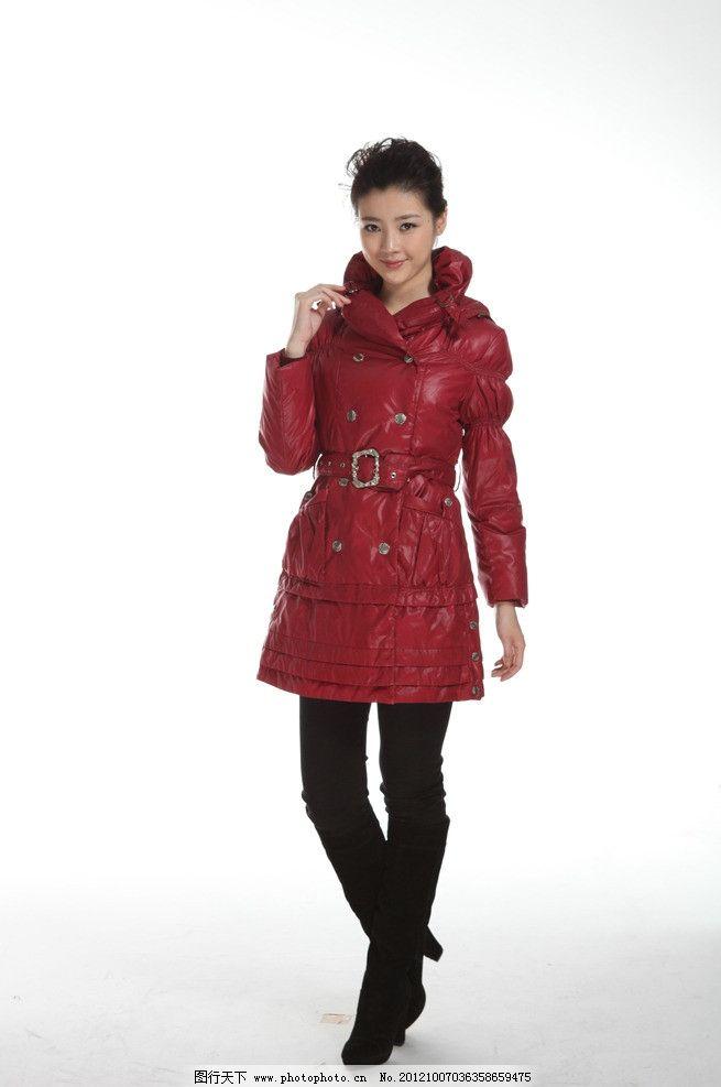 2012冬季羽绒服 模特 模特美女 女模特 人物摄影