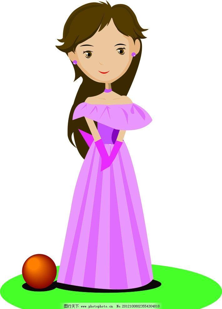 人物矢量图 女孩 公主