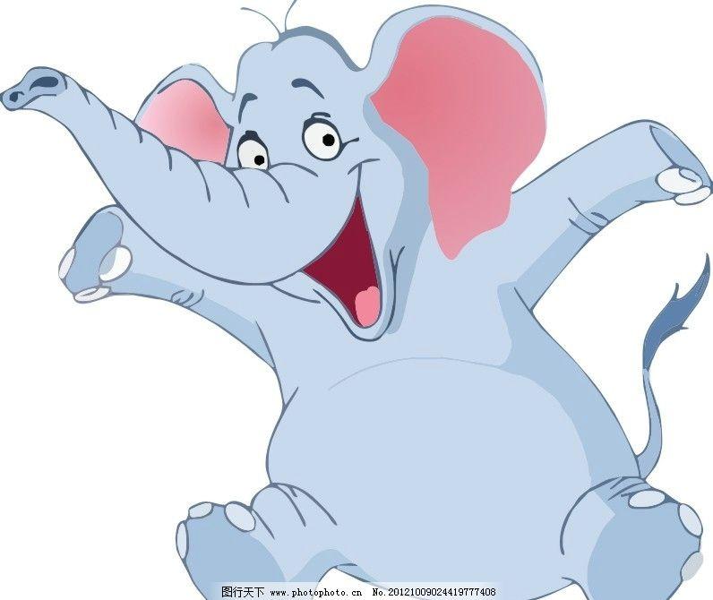 大象 矢量 卡通 动物 野生动物 生物世界 cdr