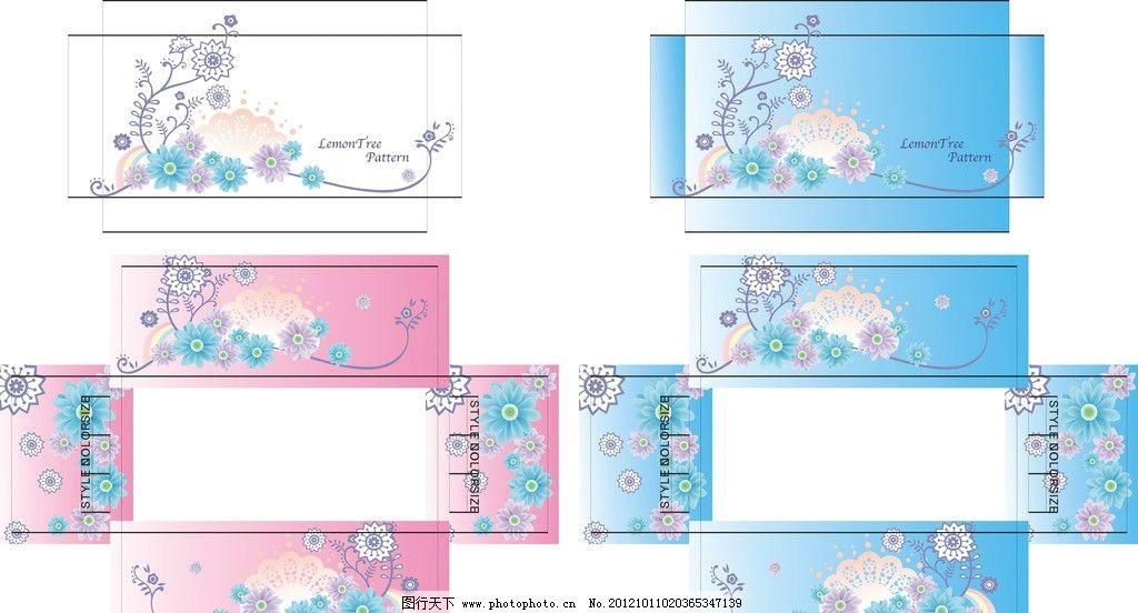 盒子 花 广告设计 包装设计 矢量图库 花草 花纹花边 底纹边框