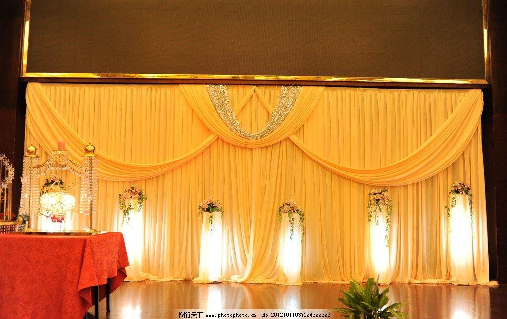 婚礼背景布置 金色系列