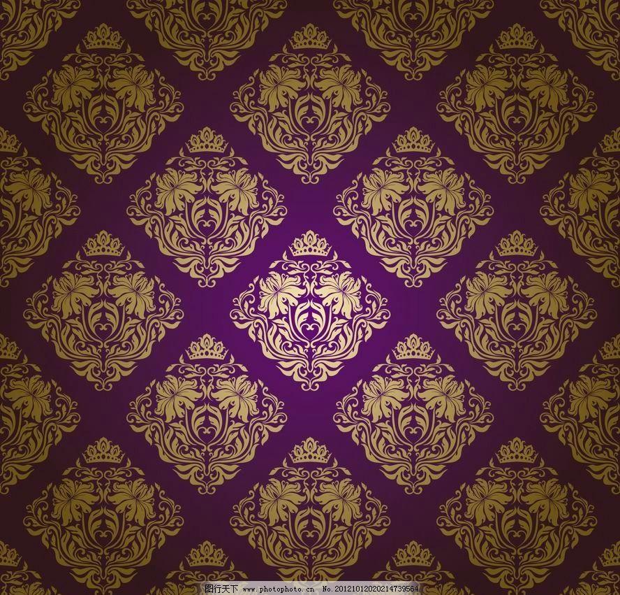 无缝欧式花纹 古典花纹图片