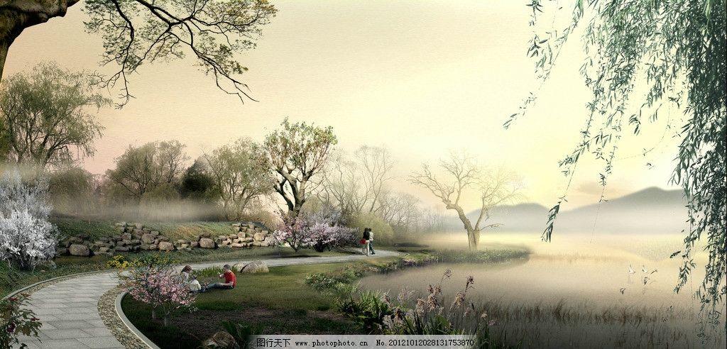 湖滨路 景区 园林 生态 自然 湖泊 滨水绿道 花草 树木 休闲步道