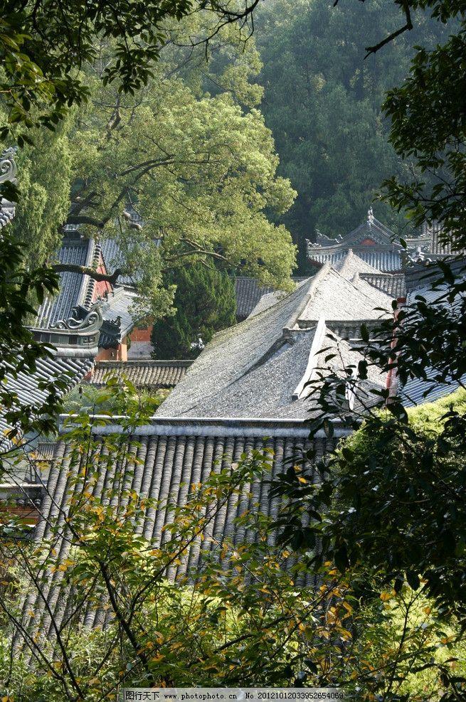 国清寺 天台国清寺 天台 绿叶 树林 建筑 俯视 瓦 国内旅游 旅游摄影