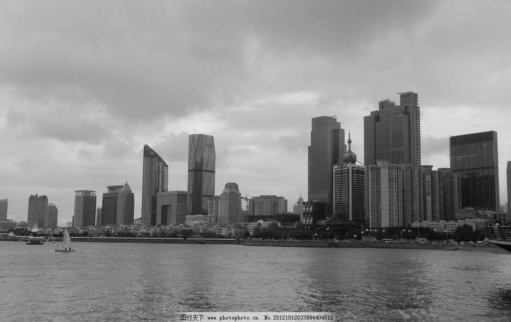 青岛风光 建筑物 高楼 海滨 阴雨天 海水 国内旅游 旅游摄影 摄影 72