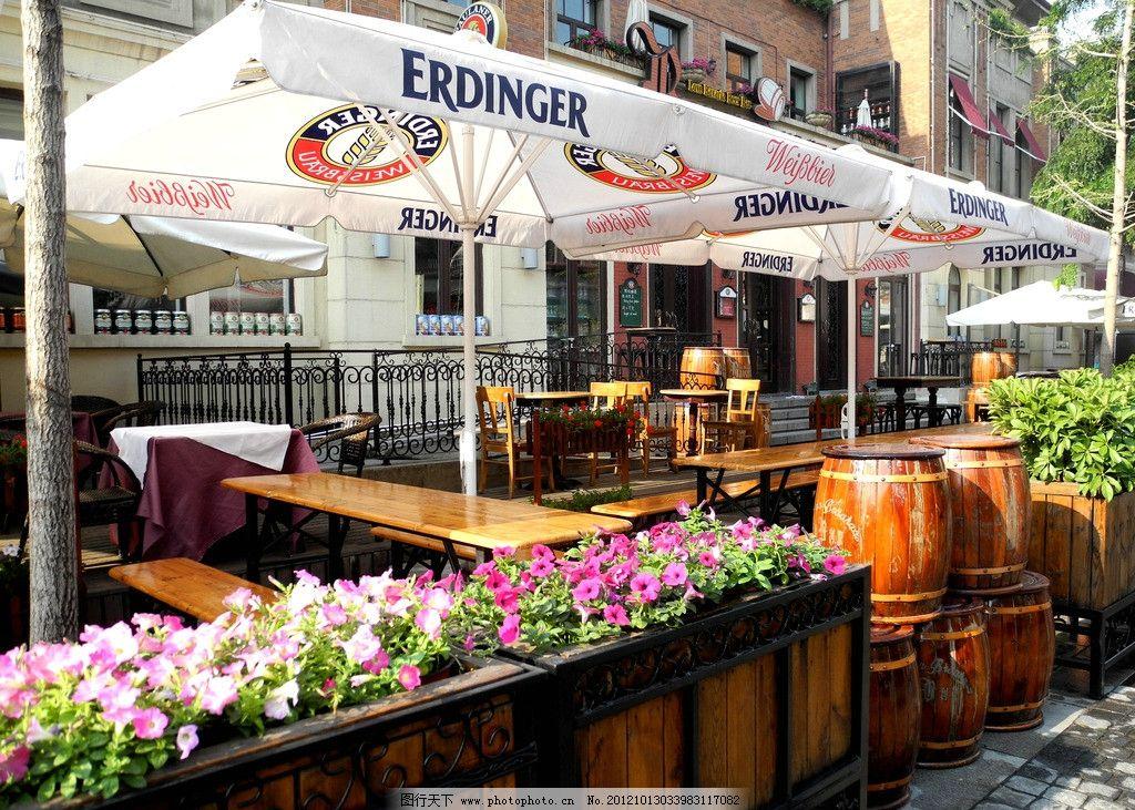 欧式建筑 欧式风格 酒吧街
