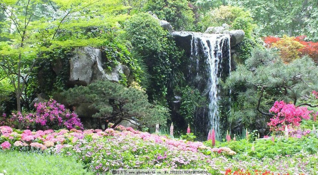 西湖风景 假山瀑布(非高清)图片