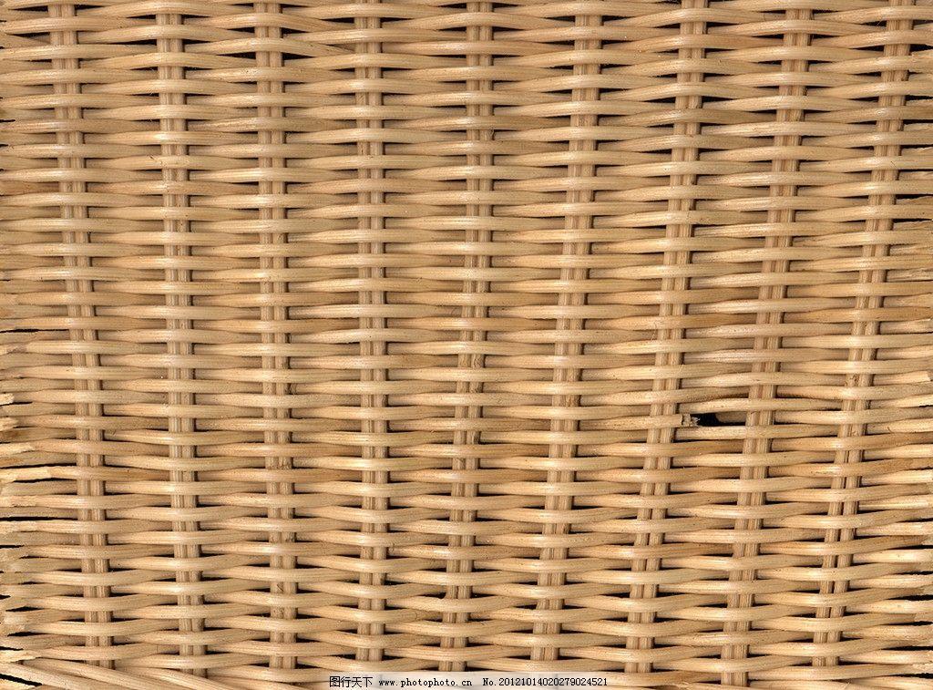 手工藤条编织长方形