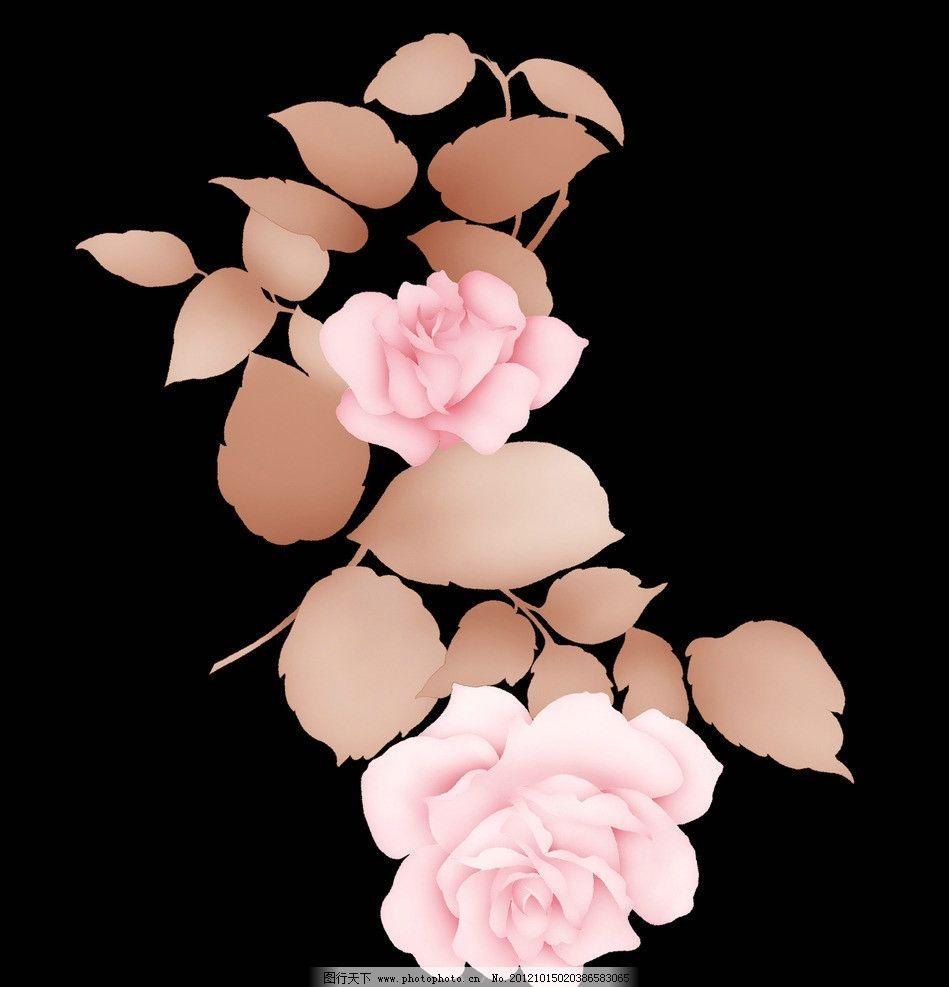 手绘花卉韩国素材图片