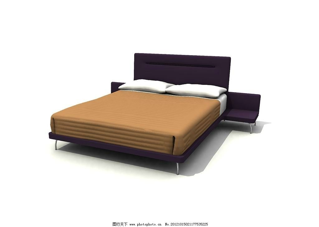 室内床 max 源文件 3dmax 三维模型 床 室内模型 精品模型 现代床