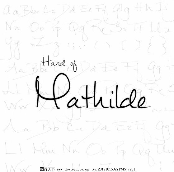 自然流畅手写英文字体