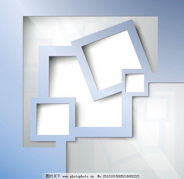 简单镂空边框矢量图