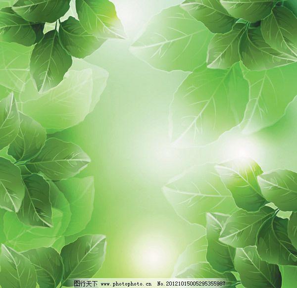 矢量素材绿色植物藤蔓树叶