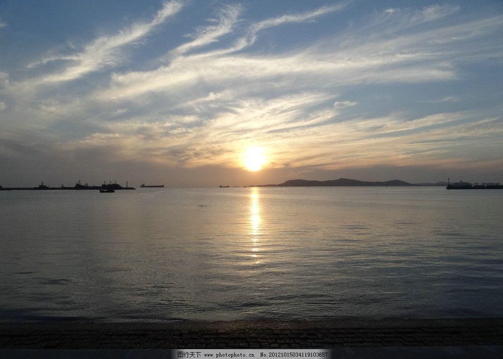 夕阳 蓬莱 长岛 灯塔 大海 海边 风景 自然风光 自然风景 旅游摄影