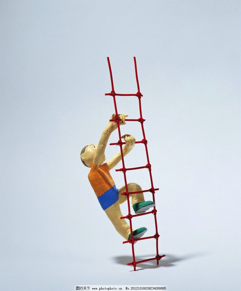 爬梯子 云梯 学校 校园 学生 卡通学生 卡通人物 梯子 向上 校园生活
