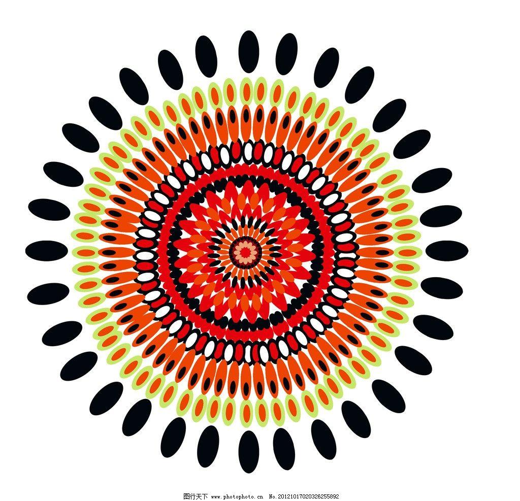 花朵 圆形 椭圆 图案 绽放 拼图 花边花纹 底纹边框 设计 60dpi jpg