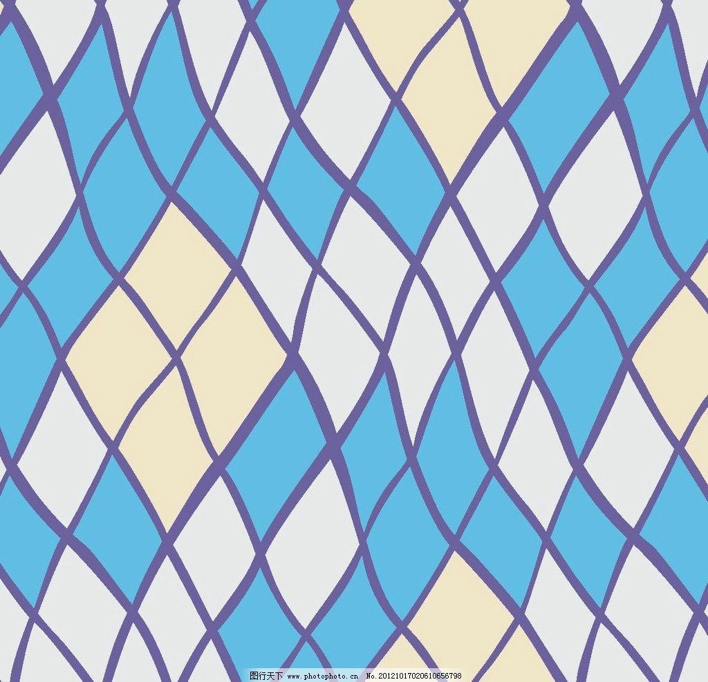 菱形歪格子 菱形 格子 蓝色 扭曲 歪曲 抽象底纹 底纹边框 设计 150