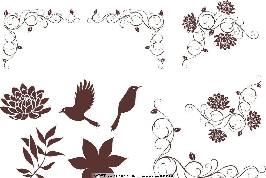 欧式花边 叶子 花纹花边 矢量