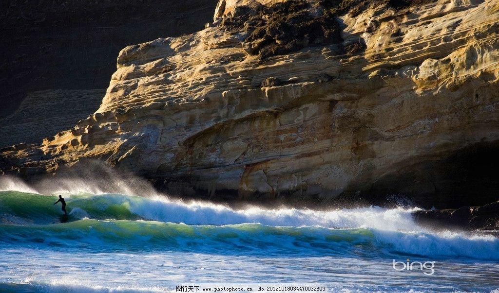 冲浪 海水 悬崖 浪花 山水风景 自然景观 摄影 96dpi jpg