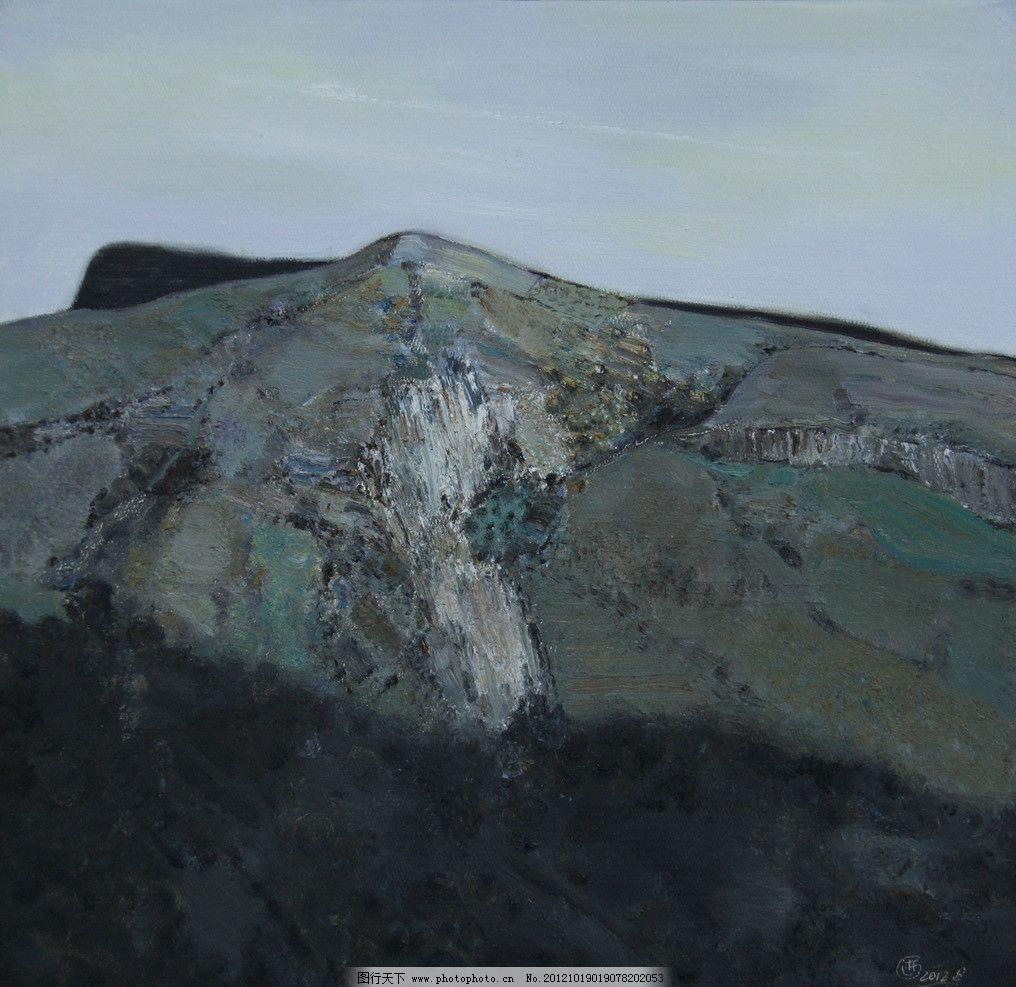 油画风景 油画 风景 山 石头 写实 写生 绘画书法 文化艺术 设计 72