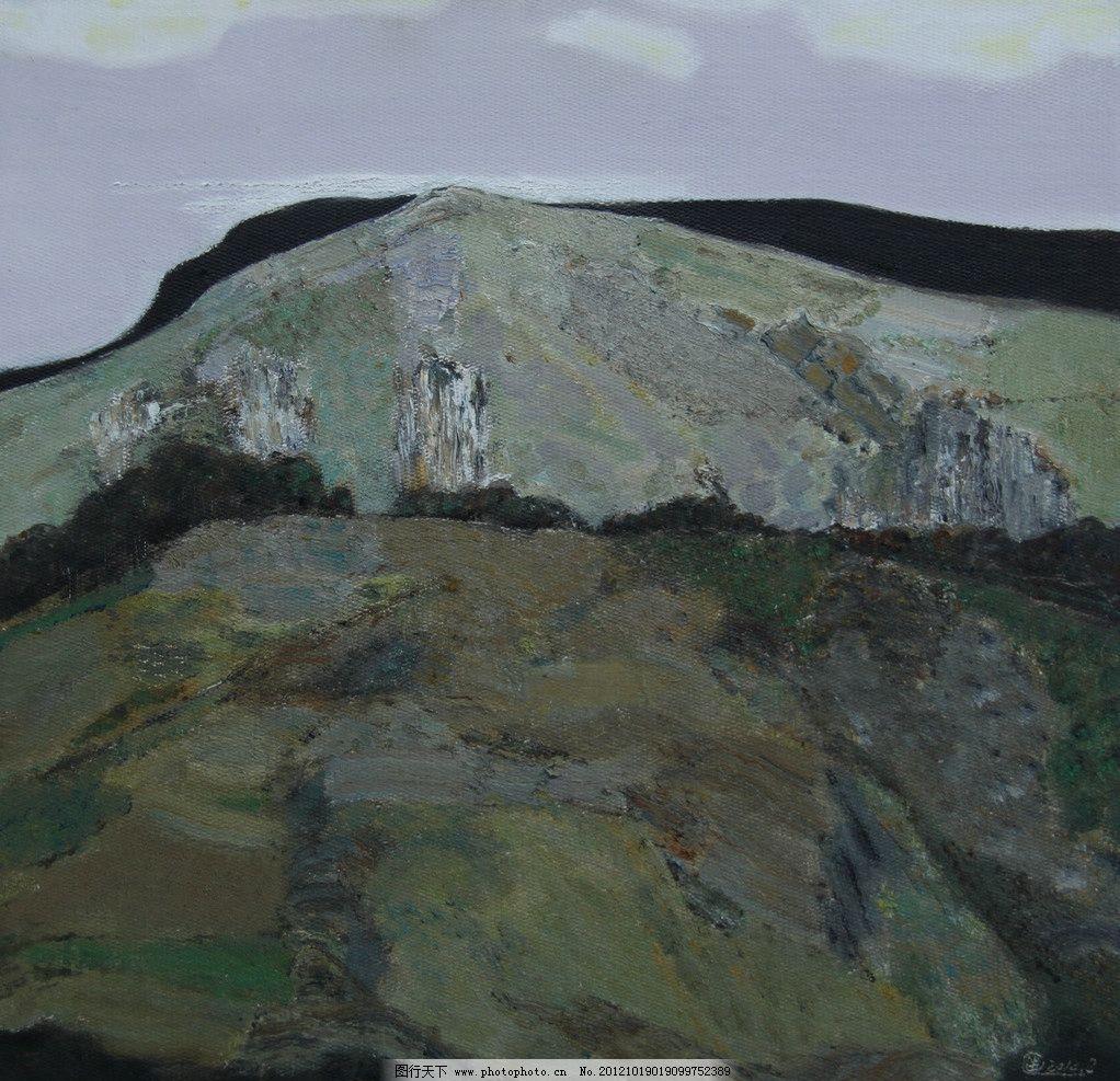 风景油画 油画 风景 山 石头 写实 写生 绘画书法 文化艺术 设计 72