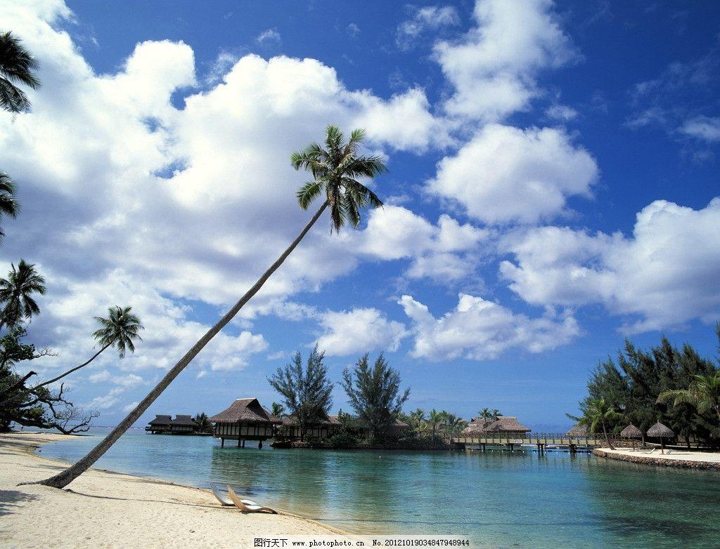 碧海藍天 碧海 藍天 海景 大海 椰子樹 自然風景 自然景觀 攝影 72dpi