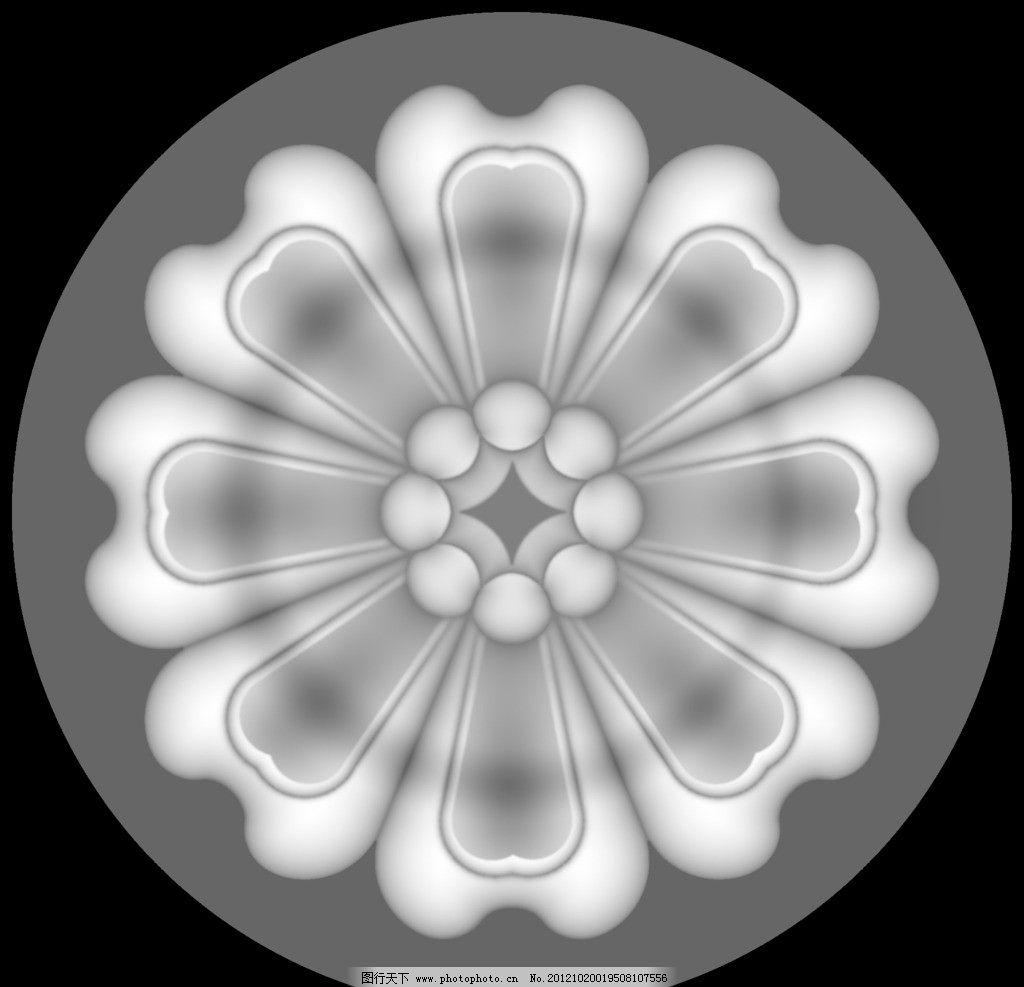 木门雕花 角花 花纹 圆形 浮雕灰度图 浮雕 雕花 灰度图 黑白 精雕