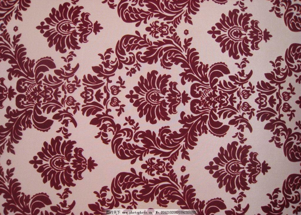新古典花纹 新古典 雍容华贵 红色 欧式 花纹 布料 墙纸 花边花纹