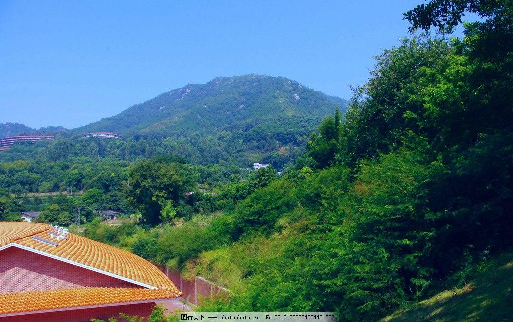 5a级风景区 雁南飞 茶田度假村 广东梅州 雁洋 长教村 楼房建筑 树木