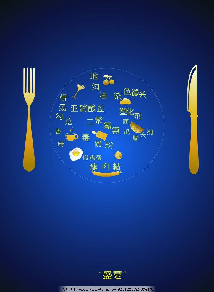 食品安全 食品 安全 刀叉 盘子 食物 招贴设计 广告设计 设计 200dpi