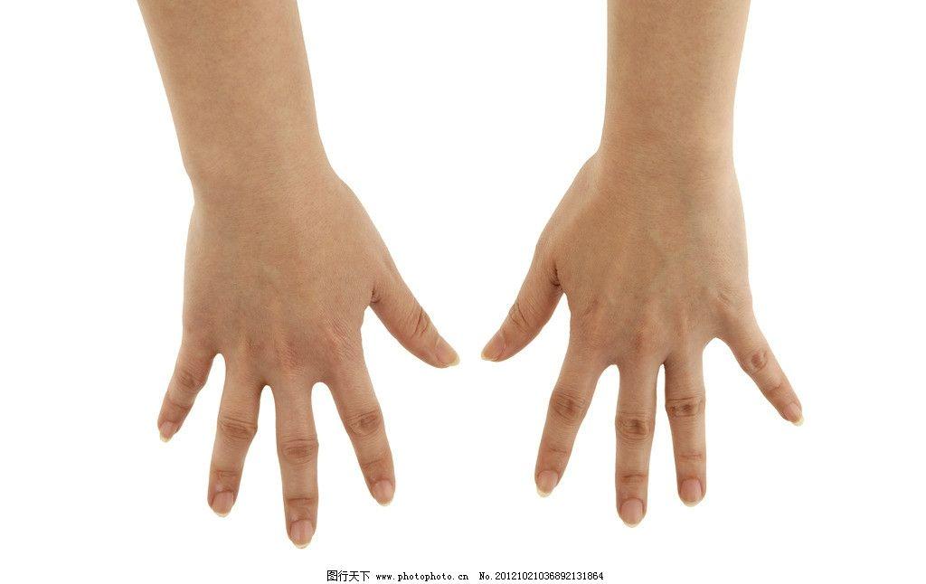 伸出双手 手背 十指 手指 十指分开 手纹 手势 手背特写 手势表达