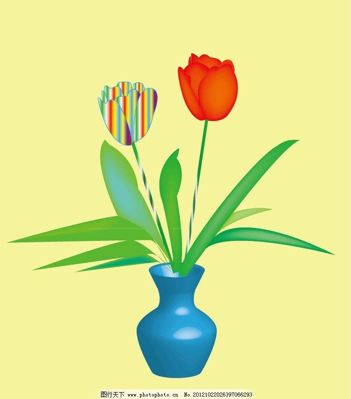 花瓶插花图片简笔画