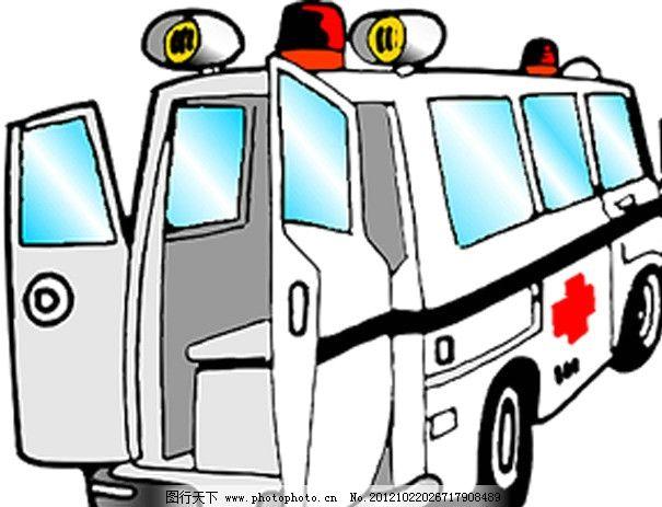 卡通救护车 矢量车辆 救护车图片