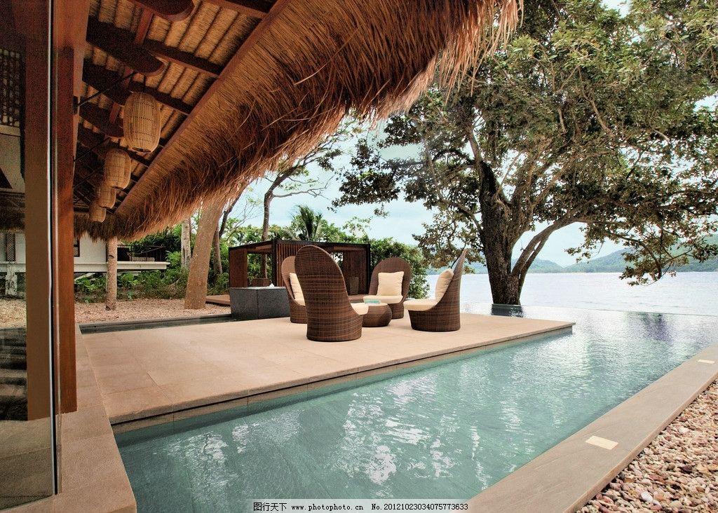 海边 别墅 度假村 美景 南亚 躺椅 旅游 阳光 泳池 国外旅游 旅游摄影