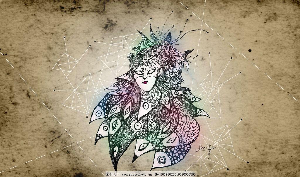 面具图片_绘画书法_文化艺术