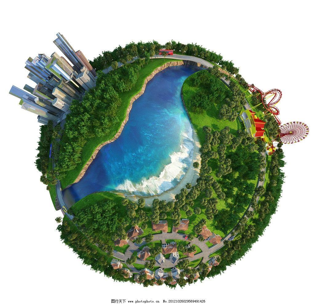 绿色环保城市素材图片图片