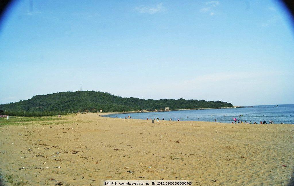 海边风景 阳江东岛 蓝天白云 美丽天空 海浪 海水 山峦 绿树