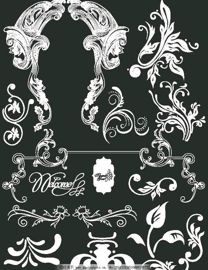 幼儿白板报花边图案剪纸-简单黑板报花边图案 小小版面设计图片
