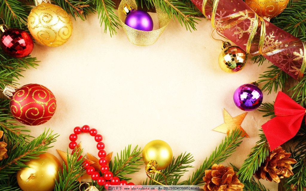 圣诞背景图片_树木树叶_生物世界_图行天下图库