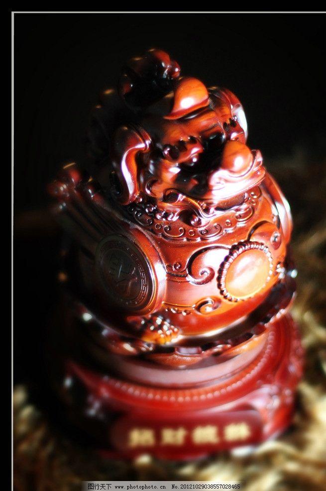 招财貔貅 貔貅 木雕 旋转 雕刻 招财 风水 传统文化 文化艺术 摄影 72