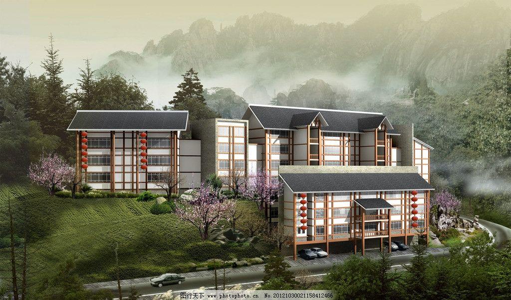背景图片 梦幻/高清3D建筑设计效果图图片