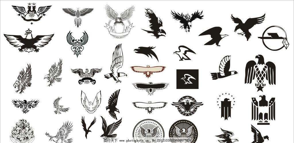 鹰合集 矢量鹰 雕 飞翔 徽章 翅膀 广告设计 矢量 cdr