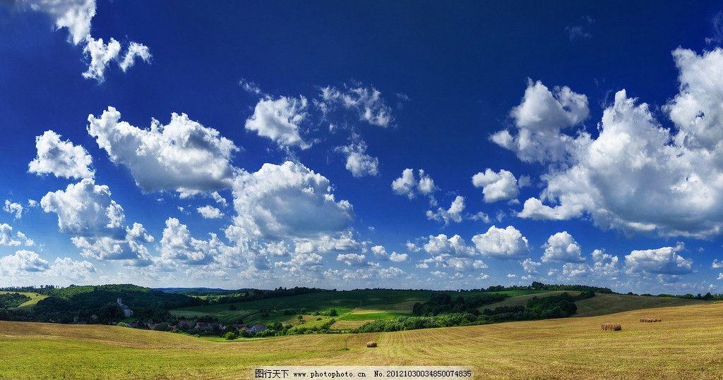 大草原 天空 夕阳 农田 庄家 天空蓝天 白云 空气 自然 风景
