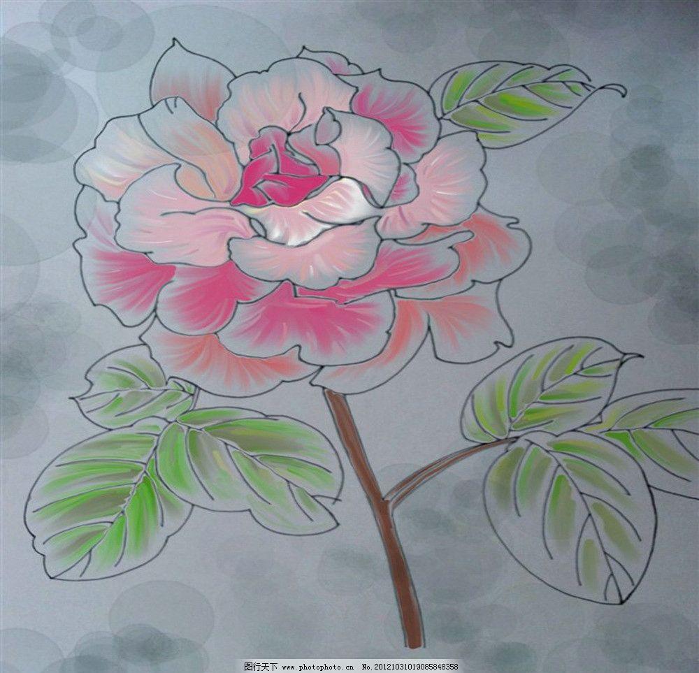 手绘花儿图片