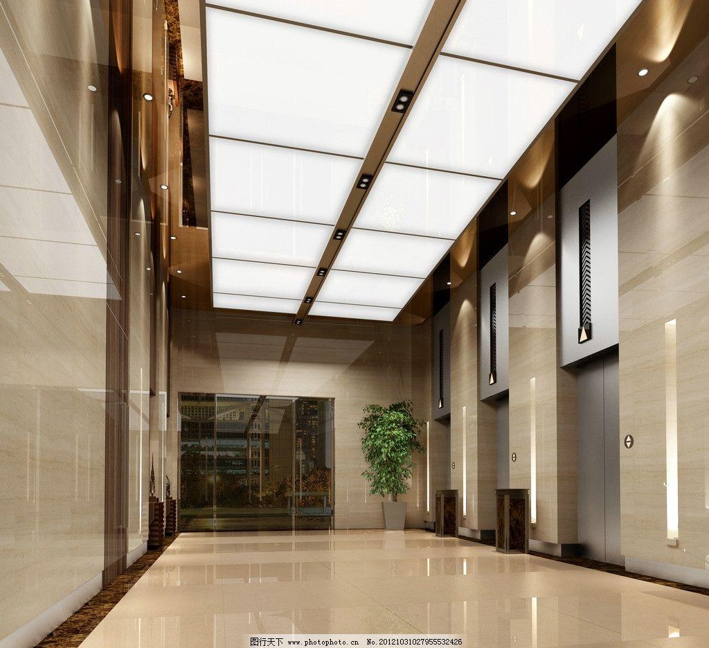 电梯厅 现代 风格 电梯 电梯厅效果图 酒店 电梯间 办公楼 室内设计